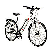 Oxygen S-Cross Step Through Hybrid Electric Bike 10.4Ah White