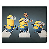 Despicable Me Minions Abbey Road Canvas Print