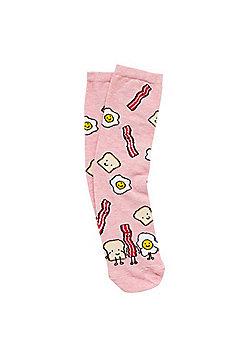 F&F Friendly Breakfast Ankle Socks - Pink/Multi