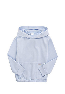 F&F Elasticated Hem Hoodie - Powder blue