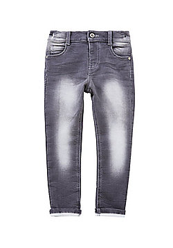 F&F Washed Stretch Skinny Jeans - Grey