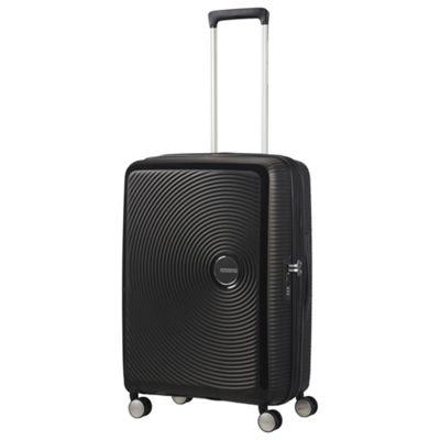 American Tourister Soundbox Medium 8 Wheel Black Suitcase