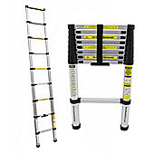 CHARLES BENTLEY DIY 2.6M EXTENDABLE EXTENSION TELESCOPIC LADDER