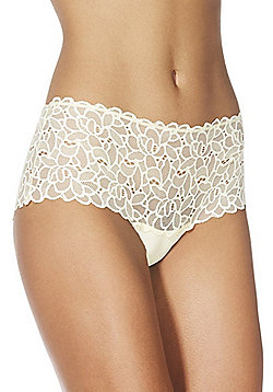F&F Floral Galloon Lace Shorts - Yellow