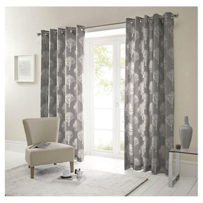 Woodland Eyelet Curtains W168xL183cm (66x72