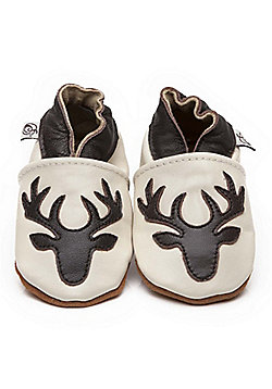 Olea London Soft Leather Baby Shoes Deer - Cream