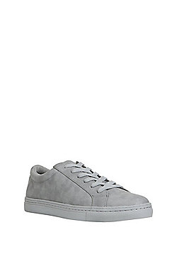 F&F Faux Suede Lace-Up Plimsolls - Grey
