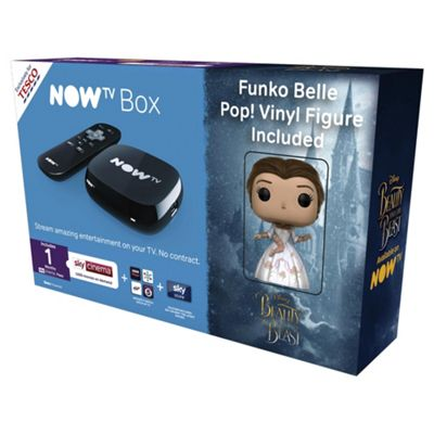 Now TV HD Digital Media Streamer Sky Cinema 1 Month Pass and Sky Store Voucher w/ Free Belle Pop! Figurine