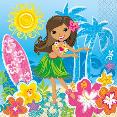Hula Beach Party Napkins - Paper - 16 Pack