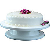 Cake - Plastic Circular 27cm / 11 Inch Cake Decorating Turntable - White