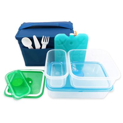 Children's Blue Lunch Box Kit, Children's Lunch Kit, Kids Lunch Set