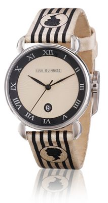 Lulu Guinness Glamour Ladies Leather Date Watch LG20008S01X