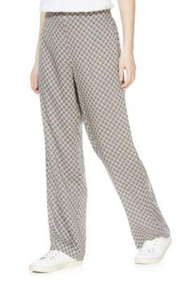 Vero Moda Fan Print High Waisted Wide Leg Trousers Multi L