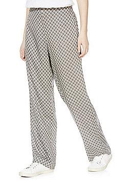 Vero Moda Fan Print High Waisted Wide Leg Trousers - Multi