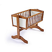 Poppy's Playgound Lola Swinging Crib & Foam Mattress - Country Pine & Ivory