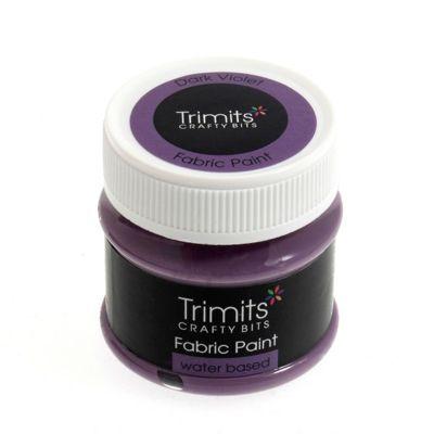 Trimits Fabric Paint Dark Violet 50ml