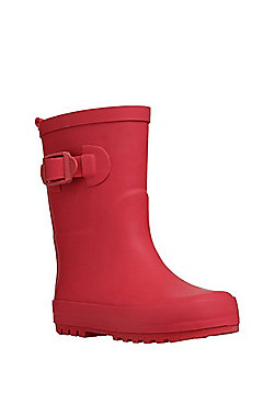 F&F Reflective Stripe Wellies - Red