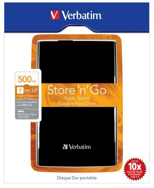 Verbatim 500GB USB 3.0 External Hard Drive