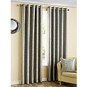 Zena - Graphite - Eyelet Curtains - Grey