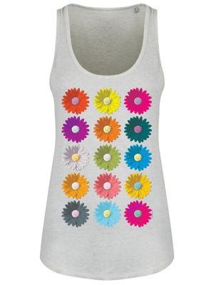Coming Up Daisies Ladies Cream Heather Grey Floaty Vest