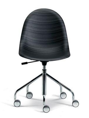 Plank Luna Swivel Chair - Blackwood