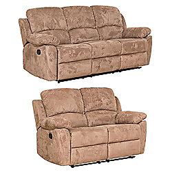 Sofa Collection Constance 3+2 Recliner Sofas - Medium Brown
