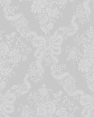 Graham & Brown Julien MacDonald Glimmerous Damask Wallpaper - White