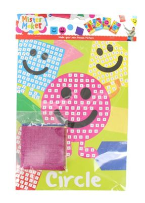 Children's Arts Crafts Set Mister Maker Make Your Own Mosaic Picture Kids Gift-Circle