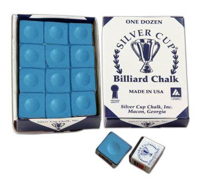 Silver Cup Billiard Chalk (12 Pieces) - Chalk Colour : Blue Chalk