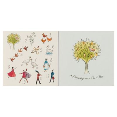 Tesco Advent & Pear Tree Christmas Cards, 12 Pack