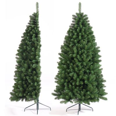 7ft green half christmas tree - Half Christmas Tree