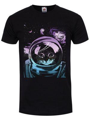 Unorthodox Space Kitten Men's T-shirt, Black.