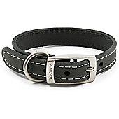 Ancol Timberwolf Grey Leather Collar - Size 1