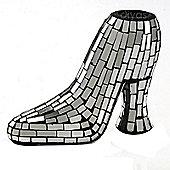 Anika Mosaic Glass Art Shoe Ornament Silver
