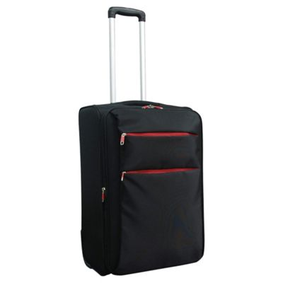 Tesco 2-Wheel Ultra Lightweight Suitcase, Black Medium