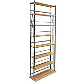 Dakota - Wide 266 Dvd Blu-ray / 378 Cd Media Storage 7 Tier Tower Shelves - Silver