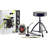 Stagg Drum Throne Pedal Sticks and Hphones Pack