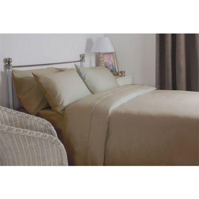 Belledorm Brushed Cotton Latte Flat Sheet - Double