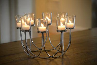 Beautiful Tea Light Glass Candle Holder Wedding Christmas Table Centrepiece Decoration
