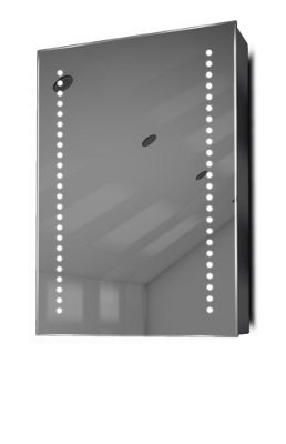 Demist Cabinet With LED Under Lighting, Sensor & Internal Shaver Socket k351w