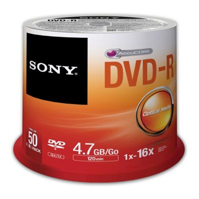 Sony DVD Recordable Media - DVD-R, 50 Pack