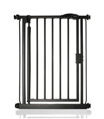 Safetots Auto Close Extra Narrow Gate Matt Black 61-66.5cm