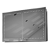 Hestia LED Bathroom Cabinet with Demister Pad, Sensor & Shaver k371
