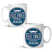 Father's Day Personalised White Mug - Moustache