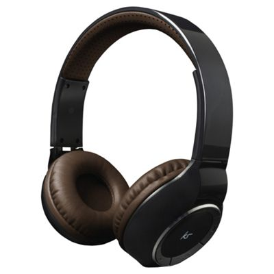 KitSound Arena Bluetooth On-Ear Headphones with Mic - Black
