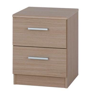 Alto Furniture Visualise Shaker 2 Drawer Bedside Table in Veradi Oak
