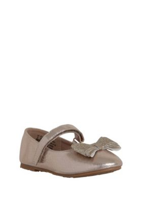 F&F Bow Detail Pumps Gold Child 11