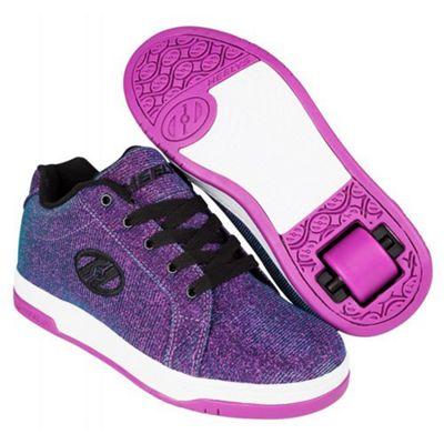 Heelys Split Purple/Aqua Kids Heely Shoe JNR 13