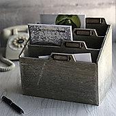 Washed Wood Multi Slot Letter Rack