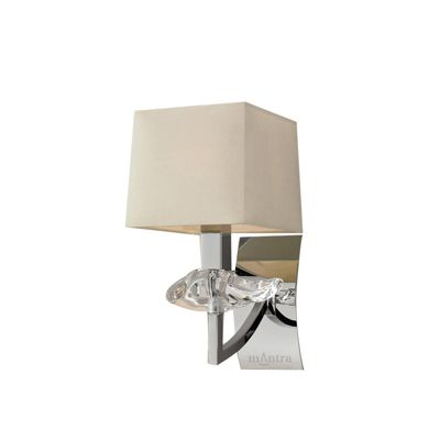 Akira Wall 1 Light Polished Chrome With Cream Shade